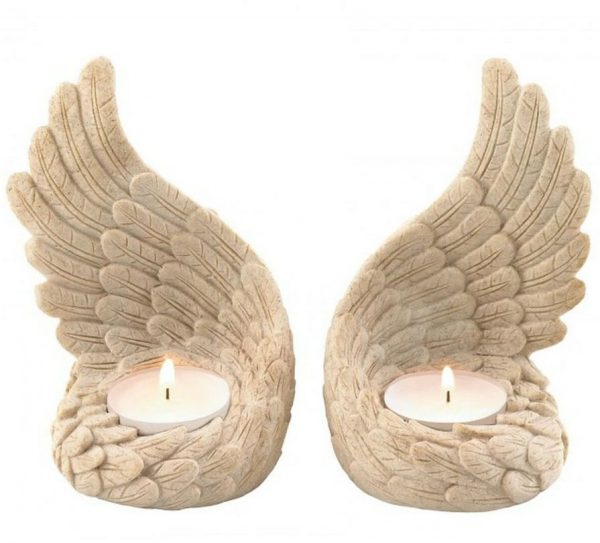 Angel Wings Candle Holders