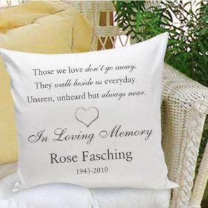 Image of memorial throw pillow.