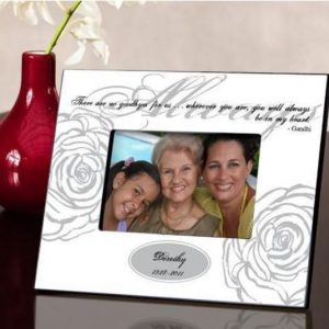 Image of memorial picture frame.