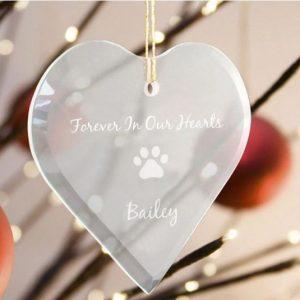 Image of Pet memorial ornament.