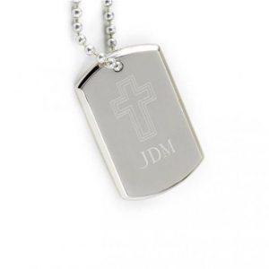 Image of memorial dog tag.