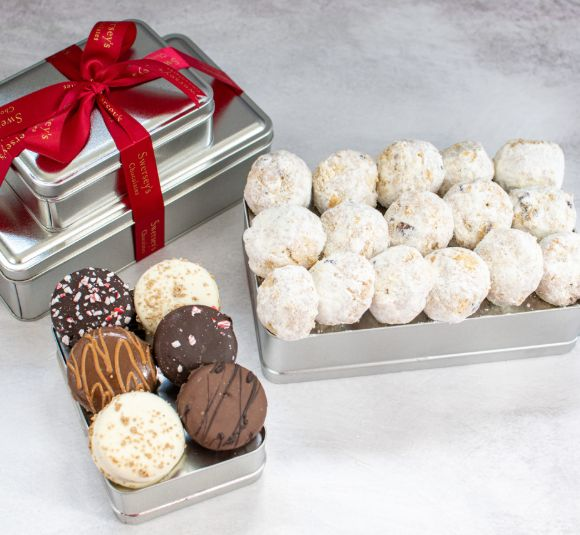 Image of cookie gift tower.