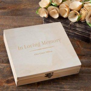 Image of memorial keepsake box.