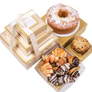 Image of baked goods gift tower.