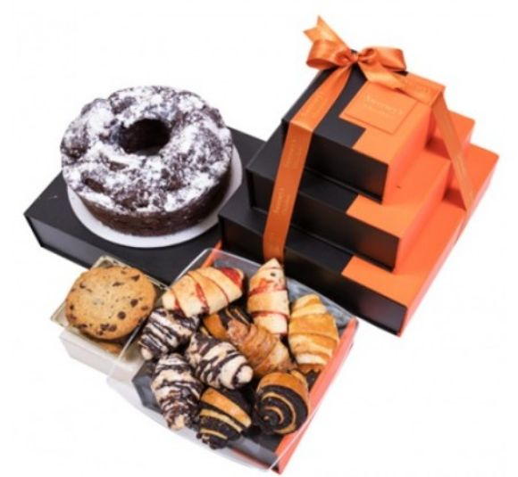 Image of baked good gift tower.