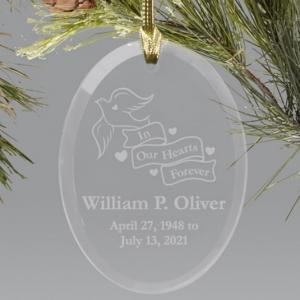 Image of memorial ornament.