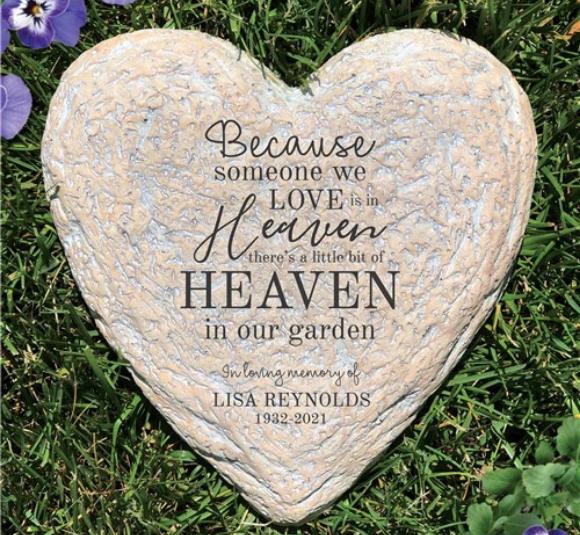 Image of memorial garden stone.