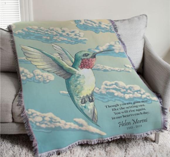 Image of memorial blanket.