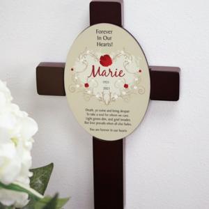Image of memorial cross.