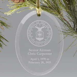 Image of Air Force ornament.