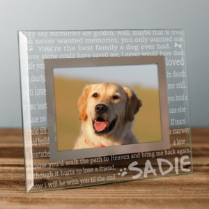 Image of pet memorial frame.