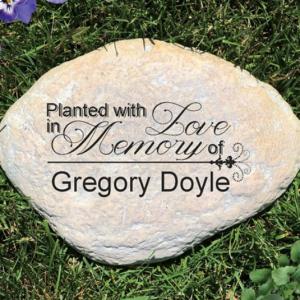 Image of memoria garden stone.