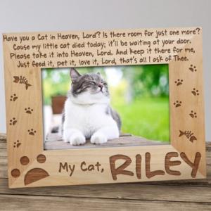 Image of cat memorial frame.