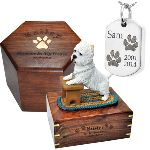 Image of pet memorial gifts.