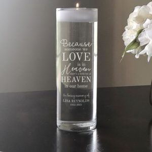 Image of memorial candle.