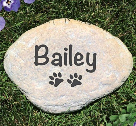 Image of pet memorial stone.